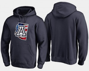 Navy Wildcats Hoodie Banner State Big & Tall Mens