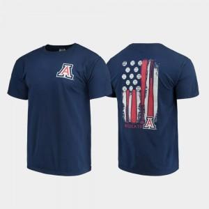 Baseball Flag Mens Navy Wildcats T-Shirt Comfort Colors