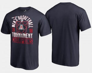 Basketball Conference Tournament Navy Arizona Wildcats T-Shirt 2018 Pac 12 Champions For Men's