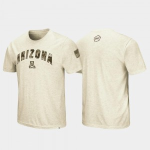University of Arizona T-Shirt Mens Oatmeal Desert Camo OHT Military Appreciation