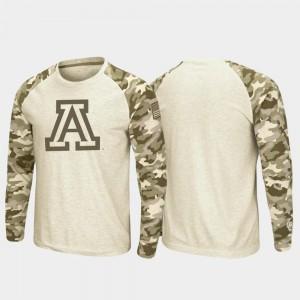 Oatmeal OHT Military Appreciation Wildcats T-Shirt Raglan Long Sleeve Men