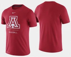 Red For Men's Arizona Wildcats T-Shirt Dugout Performance College Baseball