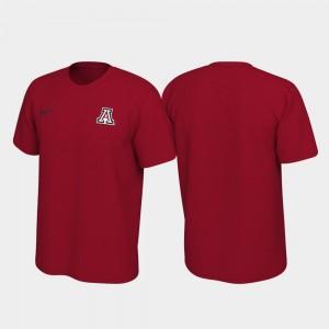 Legend Men's Red University of Arizona T-Shirt Left Chest Logo