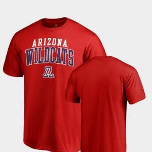 Men Red Fanatics Branded Square Up Arizona Wildcats T-Shirt