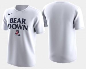 White Mens Basketball Tournament Arizona Wildcats T-Shirt 2018 March Madness Bench Legend Performance