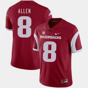 College Football #8 Nike Austin Allen Razorbacks Jersey For Men's Cardinal