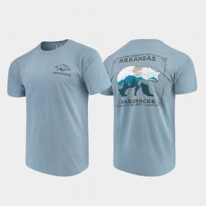 For Men's Blue Comfort Colors Arkansas T-Shirt State Scenery