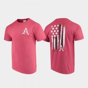 University of Arkansas T-Shirt Baseball Flag Cardinal Mens Comfort Colors