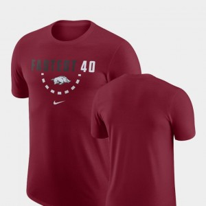 Men's Cardinal Arkansas T-Shirt Basketball Team Nike