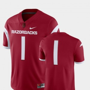 University of Arkansas Jersey For Men's 2018 Game Nike Cardinal College Football #1