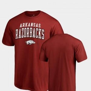 For Men's Square Up Arkansas T-Shirt Fanatics Branded Cardinal