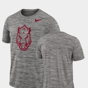 Men Performance Nike Charcoal Arkansas T-Shirt 2018 Player Travel Legend