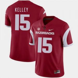Cole Kelley Razorbacks Jersey Cardinal For Men's #15 Nike College Football