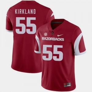 Denver Kirkland Arkansas Jersey #55 Nike College Football For Men Cardinal