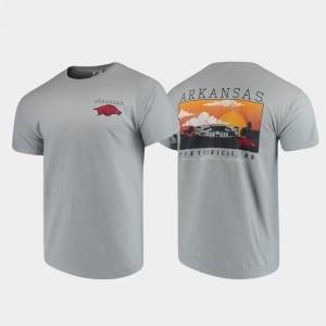 Gray Comfort Colors Campus Scenery Arkansas T-Shirt Men