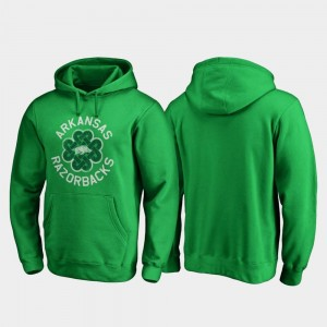 St. Patrick's Day University of Arkansas Hoodie Luck Tradition Fanatics Branded Mens Kelly Green