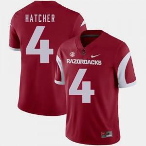 Mens Nike #4 Cardinal Keon Hatcher Arkansas Jersey College Football