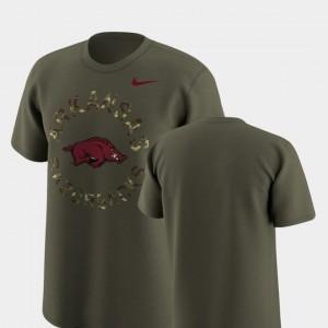 Nike Olive For Men Arkansas T-Shirt Legend Camo