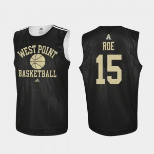 #15 Practice For Men's Adidas College Basketball Black Adam Roe Army Black Knights Jersey