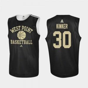 Ben Kinker Army Jersey #30 Adidas College Basketball Black For Men's Practice