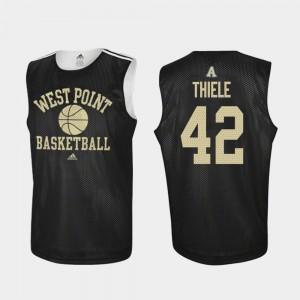 Practice Adidas College Basketball Brendan Thiele Army Black Knights Jersey Black #42 Men