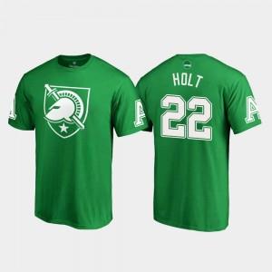Calen Holt Army T-Shirt St. Patrick's Day Mens Kelly Green White Logo Fanatics Branded #22