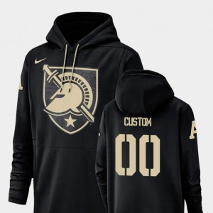 For Men's Black Nike Football Performance #00 Champ Drive Army Customized Hoodie