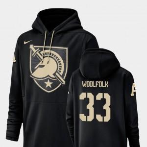 #33 Nike Football Performance Mens Darnell Woolfolk Army Hoodie Champ Drive Black