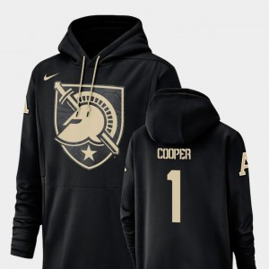 Black Men's Nike Football Performance #1 Fred Cooper Army Hoodie Champ Drive