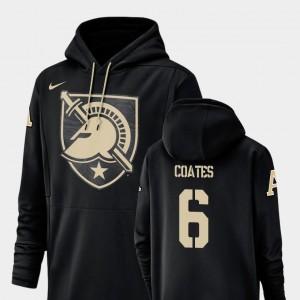 Mens Black Glen Coates Army Black Knights Hoodie #6 Champ Drive Nike Football Performance