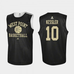 Adidas College Basketball Men's Black Jacob Kessler United States Military Academy Jersey Practice #10