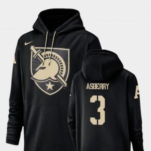 Men's Jordan Asberry USMA Hoodie Black Nike Football Performance Champ Drive #3
