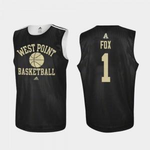 Jordan Fox Army Jersey Practice #1 Black Adidas College Basketball Mens