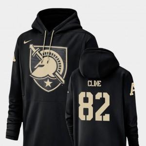 Men Kjetil Cline Army Black Knights Hoodie Champ Drive Nike Football Performance #82 Black