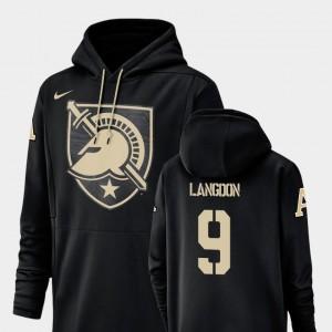 #9 Luke Langdon Army Hoodie For Men Champ Drive Nike Football Performance Black