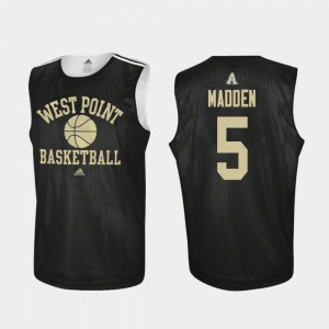 Mark Madden Army Jersey For Men Adidas College Basketball Black #5 Practice