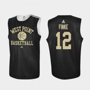 Practice Adidas College Basketball Men Black Nick Finke Army Jersey #12
