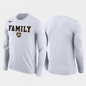 White March Madness Basketball Performance Long Sleeve Men's Family on Court Army T-Shirt