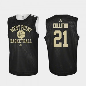 Black Men's #21 Will Culliton Army Jersey Practice Adidas College Basketball