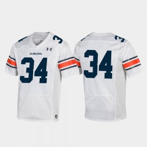 Football Under Armour #34 Replica White For Men's Auburn Tigers Jersey