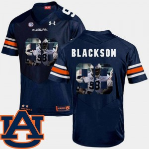 Angelo Blackson AU Jersey Football Pictorial Fashion For Men's #98 Navy