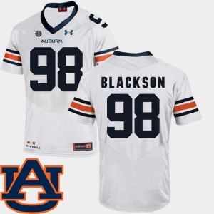 White Angelo Blackson Tigers Jersey #98 SEC Patch Replica College Football Mens