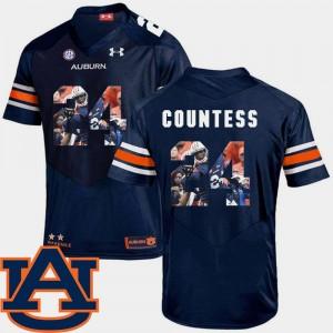Navy Blake Countess Auburn Jersey Mens Pictorial Fashion Football #24