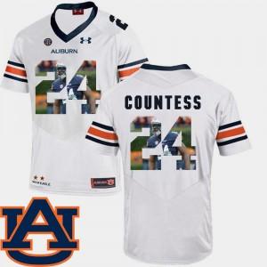 White Pictorial Fashion Blake Countess Auburn Tigers Jersey Men #24 Football