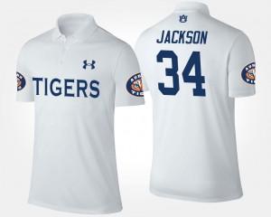 White Name and Number #34 Bo Jackson AU Polo For Men