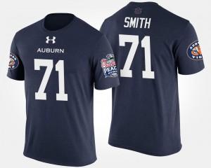 #71 For Men's Peach Bowl Braden Smith AU T-Shirt Bowl Game Navy