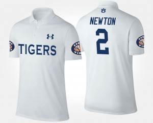 Cam Newton Auburn University Polo White Men Name and Number #2