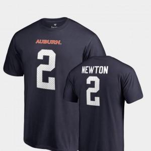 Name & Number College Legends Cam Newton AU T-Shirt Navy #2 Men's