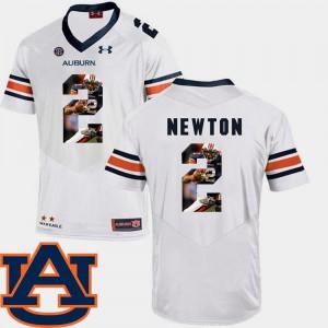 Men's White Cam Newton Auburn Tigers Jersey #2 Football Pictorial Fashion