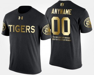 Gold Limited AU Customized T-Shirt For Men #00 Black Short Sleeve With Message
